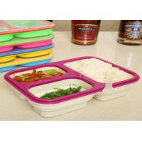 Easy - Clean Eco Silicone Collapsible Lunch Box Non Stick FDA / LFGB Standard Manufactures