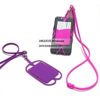 Promotional Silicone Lanyard Smart Wallet,Silicone phone case with business card holder Manufactures