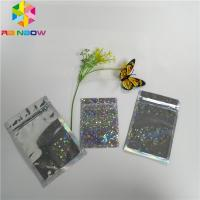 Quality Glitter Flash Star Hologram Mylar Ziplock Bags Glossy Three Side Seal Facial Mask Packing for sale