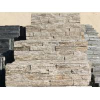 China White Wood Granite Culture Stone,Natural Thin Stone Veneer,Fireplace Stacked Stone Wall Panel on sale