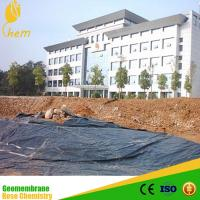 HDPE LDPE plastic fish pond liner geotextile membrane price Manufactures