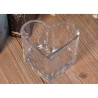 China Wholesale bulk heart glass candle making tealight holders for wedding on sale
