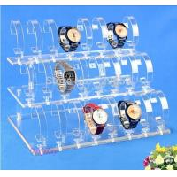 Detachable 3 Tier Acrylic Display Stand , Acrylic Wrist Watch Holder Stand Manufactures