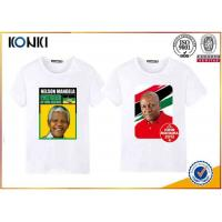 Custom T Shirt Printing Polyester / Cotton Election Campaign T Shirts O Neck Manufactures