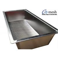 Heavy Duty Stainless Steel Perforated Metal Tray 2mm Thickness For Making Cheese Manufactures