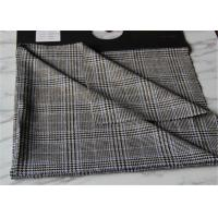 Criss Cross Strip Tartan Wool Fabric Houndstooth Causal Suit / Pants With Vertical Line Manufactures