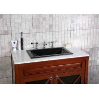 Quality Durable Stylish Bathroom Sink Countertop , Granite Bathroom Vanity Rectangular Undermount for sale