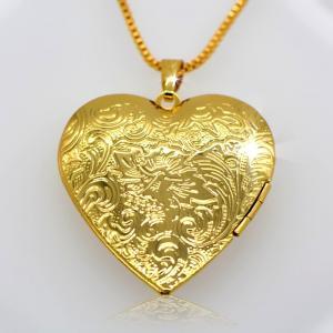 Locket Pendants jewelry classic heart-shaped box pendan 18k gold plating jewelry Manufactures