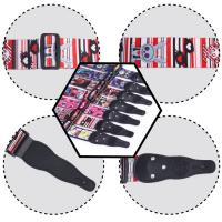 5Cm Width Leather Head Polyester Custom Printed Guitar Straps Accessories For Guitar Decoration Manufactures