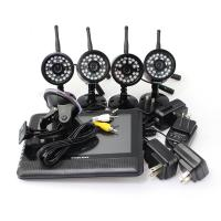 4 CH Quad picture Wireless DVR Surveillance Camera System , Home DVR Security System Manufactures