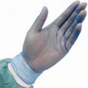 Blue Vinyl Medical Exam Gloves, PVC, Disposable, No Allergic, Powder-free Manufactures