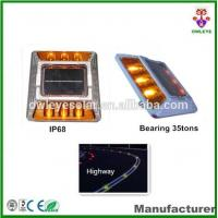 China ultra bright aluminium IP68 led solar road stud with CE and RoHS certificates/Cat eye solar road marker on sale
