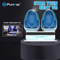 Two Players Interactive Game VR Egg Chairs / 9D VR Simulator 12 Months Warranty Manufactures