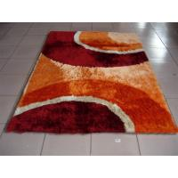 Line Colorful Shining Polyester Silk Soft Shaggy Carpet Made In China Rug Manufactures