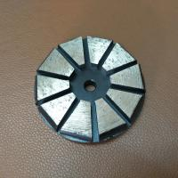 "3"" 4"" Inch 10 Segments Diamond Grinding Shoes/Disc with Hook & Loop Backers for STI Floor Grinder Polisher Manufactures"