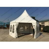 White PVC Cover Pagoda Party Tent , Waterproof Outdoor Event Tent Transparent Windows Manufactures