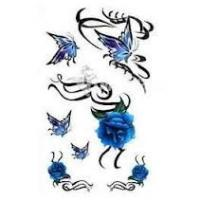 Waterproof safty Butterfly Temporary Tattoo Sticker customizable for body , nail art Manufactures