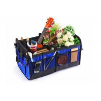 Blue Car Trunk Organizer Waterproof Bottom With Velcro Strips To Prevent Sliding Manufactures