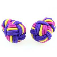 China Silk Knot Cufflinks on sale