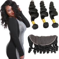 Smooth Pure Loose Wave Remy Hair Weave No Shedding Fashionable Color Manufactures