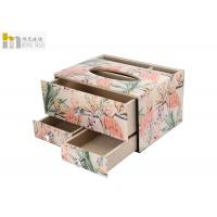 Beautiful Decorative Tissue Box / Tissue Storage Box For Office Lightweight Manufactures