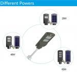 40W Solar Street Light with PIR Motion Sensor Solar Powered LED Street Lights Manufactures
