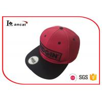 3D Embroidery P/ C Red Snapback Baseball Caps Hats With Machine Eyelet Manufactures