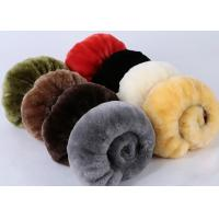 Warm Comfortable Sheepskin Steering Wheel Cover 3 Spoke Anti Slip For Safety Driving Manufactures