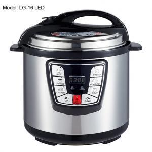 Adjustable 6L Digital Pressure Cooker , Kitchen Pressure Cooker Progrommable Manufactures