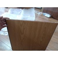 Heat Insulation PVC Wall Panel Wooden Color 40cm x 12mm For Office Decor Manufactures