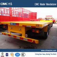 20ft 40ft heavy duty capacity flatbed trailer with container twist lock for sale Manufactures