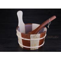 Baltic Leisure Wooden Sauna Bucket And Ladle Set , PE Plastic linner Manufactures