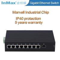 Buy cheap 9 ports 10 /100/1000Mbps gigabit industrial network switch with SFP slot wide temperature -40 to 75℃ from wholesalers