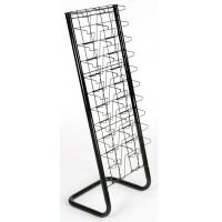 20 Pockets Paper Magazine Display Racks With Chrome Plating Manufactures