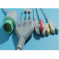 China 10 Pin Philips Ecg Cables , TPU Philips 3 Lead Ecg CableFor Snap / Clip on sale