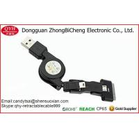 China 3 in 1 USB Retractable Charge Sync Cable Line For Android Smartphone on sale
