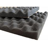 Self - adhesive PU Foam Insulation Material Black Wavy Shape For Noise Reduction Manufactures
