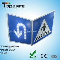 3m Reflector Pedestrian and U-Turn Sign Solar LED Traffic Road Signs Manufactures