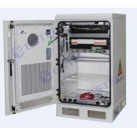 Thermostatic Wall / Pole Mount Outdoor Telecom Cabinet / Equipemnt Battery Cabinet With Heat Exchanger Cooling Manufactures