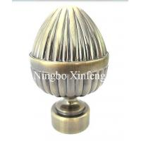 China Custom Painting Iron Curtain Finials with Ball Style for Home Decoration on sale
