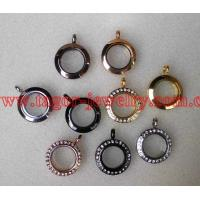 20MM Round Shaped Origami Magnetic Stainless Steel Locket,Glass Memory Floating Lockets Manufactures