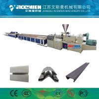China PVC Wood Plastic Composite Production Line Automatically High Speed 380 V on sale