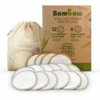 Reusable Makeup Remover Pads Bamboo Makeup Remover Pads With Laundry Bag Washable And Eco-Friendly For All Skin Manufactures