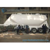SS 304 / AL5083 35M3 Conoid Dry Bulk Tanker Trailer with WABCO ABS Braking system Manufactures
