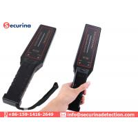 China Airport Portable Security Metal Detector Wand Mini Size 9V Battery Power Supply on sale
