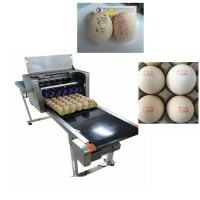 Buy cheap High Tech Carton Coding Machine Eggs Number Inkjet Printer With Solvent For Egg Supplier from wholesalers