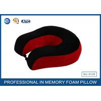 Quality Red And Black Neck Support Memory Foam Pillow U Shaped Travel Pillow For for sale