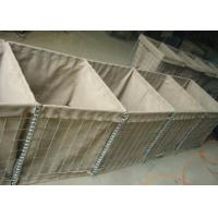 Welded Military Hesco Barriers / Hesco Bastion Barrier Gabion Mesh Box For Military Manufactures