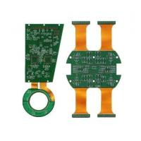 Various types Rigid Flex PCB Green Sodermask with quick delivery Manufactures