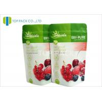 Matte Foil Stand Up Pouches with Zipper / high barrier bags Fresh Fruit Packaging Manufactures